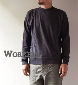 "【WORKERS】ワーカーズ FC Knit,Medium Weight Crew ""Chacoal"""
