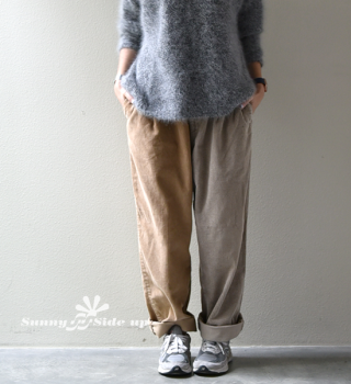 【Sunny side up】サニーサイドアップ Unisex Remake 2 For 1 Codyroy Trousers