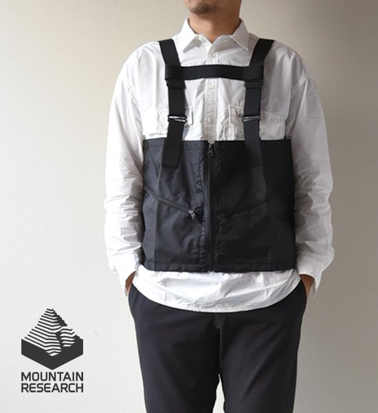 """★30%off【Mountain Research】マウンテンリサーチ Survival Vest """"Black"""""""