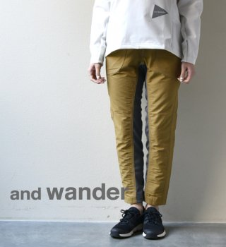 "【and wander】 アンドワンダー women's 60/40 Cloth Rib Pants ""3Color"""