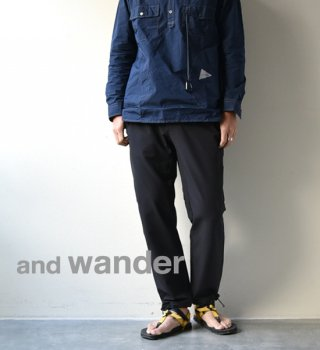 【and wander】アンドワンダー men's 2way stretch long pants