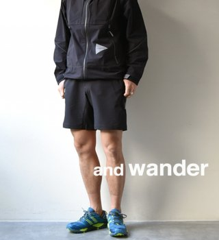 【and wander】アンドワンダー men's 2way stretch short pants