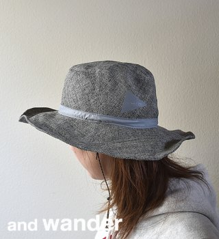 "【and wander】アンドワンダー paper cloth hat ""2Color"""