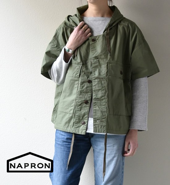 "【NAPRON】ナプロン unisex USMC Hoody Shirts ""3Color"