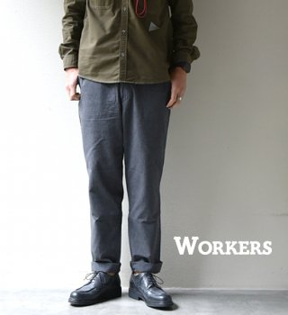 "【WORKERS】ワーカーズ FWP Trousers,Standard-Fit ""Black Chambray"""