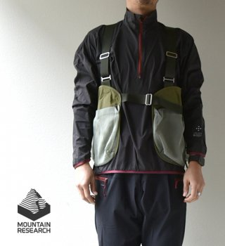 "【Mountain Research】マウンテンリサーチ Field Vest (Mesh) ""2Color"""