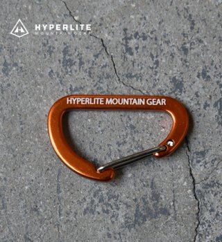"【Hyperlite Mountain Gear】ハイパーライトマウンテンギア The Flat Micro D Carabiner ""Orange"" ※メール便可"