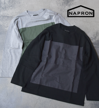 【NAPRON】ナプロン Big Pocket Long T-Shirts
