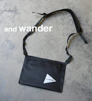【and wander】アンドワンダー waterproof sacoche