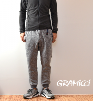 【GRAMICCI】グラミチ unisex Bonding Knit Fleece Narrow Rib Pants