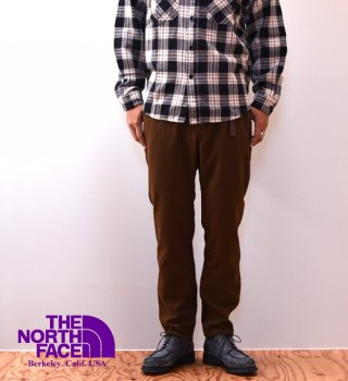 "【THE NORTH FACE PURPLE LABEL】ノースフェイスパープルレーベル men's Polyester Serge Field Pants ""Brown"