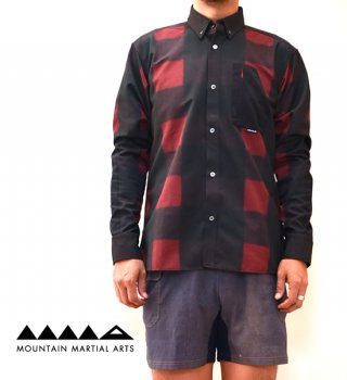 【Mountain Martial Arts】マウンテンマーシャルアーツ men's MMA Buffalo Check Treking Shirts