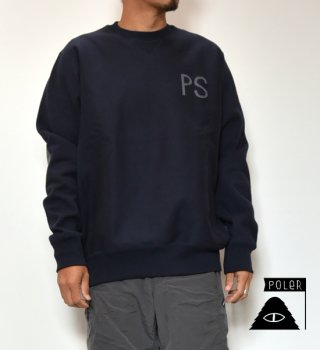 【POLER】ポーラー Elbow Patch Heavy Crew Neck