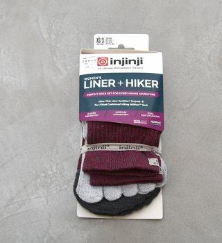 【injinji】インジンジ women's Liner+Hiker Crew