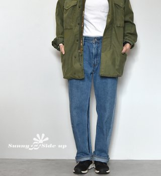【Sunny side up】サニーサイドアップ unisex Remake 2 For 1 Denim Pants