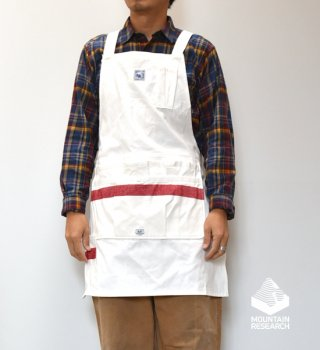 "【Mountain Research】マウンテンリサーチ Grower's Apron ""White"""
