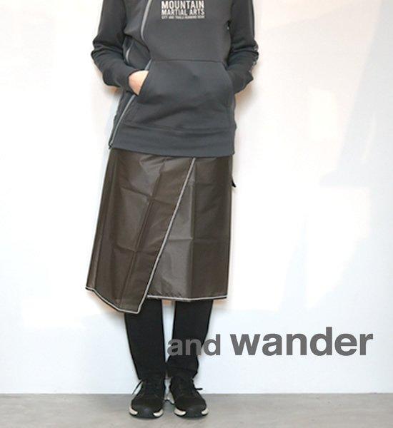 【and wander】 アンドワンダー women's sil skirt