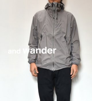 "【and wander】アンドワンダー men's PERTEX wind jacket ""2Color"""
