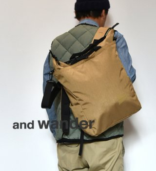 【and wander】アンドワンダー heather 2way totebag