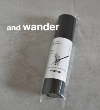 【and wander】アンドワンダー incense + holder