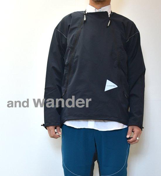 """【and wander】アンドワンダー men's trek pullover """"2Color"""""""