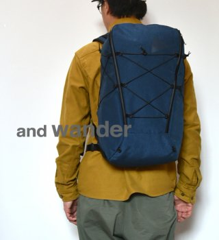 【and wander】アンドワンダー heather backpack