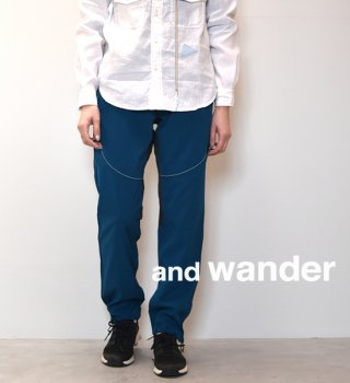 【and wander】アンドワンダー women's tech pants