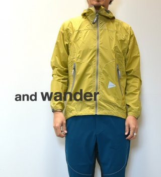 "【and wander】アンドワンダー men's W weave windy hoodie ""2Color"""