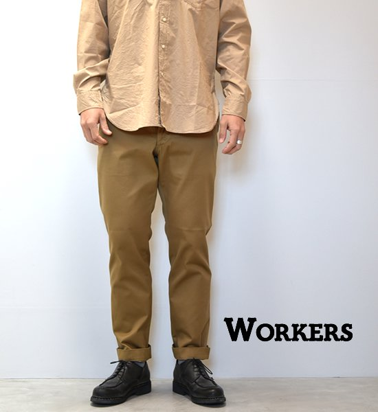 "【WORKERS】ワーカーズ Officer Trousers,Slim,Type1 ""Khaki"""