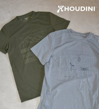 【HOUDINI】フーディニ men's Big Up Message Tee