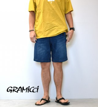 "【GRAMICCI】グラミチ men's Denim ST-Shorts ""Dark Used"""