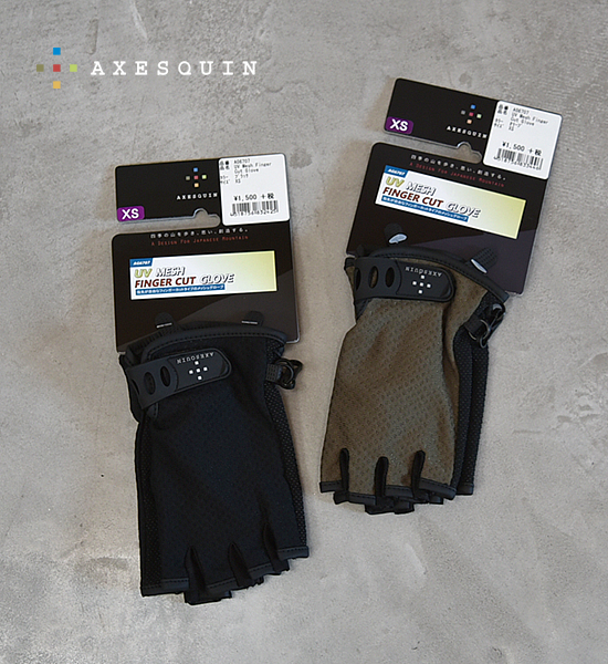 【AXESQUIN】アクシーズクイン UV Mesh Finger Cut Glove