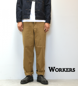 "【WORKERS】ワーカーズ Officer Trousers ""USMC Khaki"""