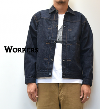 "<img class='new_mark_img1' src='https://img.shop-pro.jp/img/new/icons13.gif' style='border:none;display:inline;margin:0px;padding:0px;width:auto;' />【WORKERS】ワーカーズ Denim Jacket ""Indigo"""