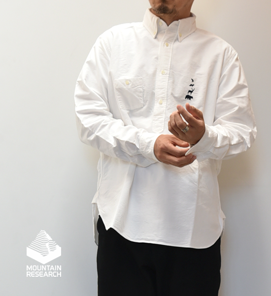 """【Mountain Research】マウンテンリサーチ  B.D. Pullover (Lefty)  """"White"""""""