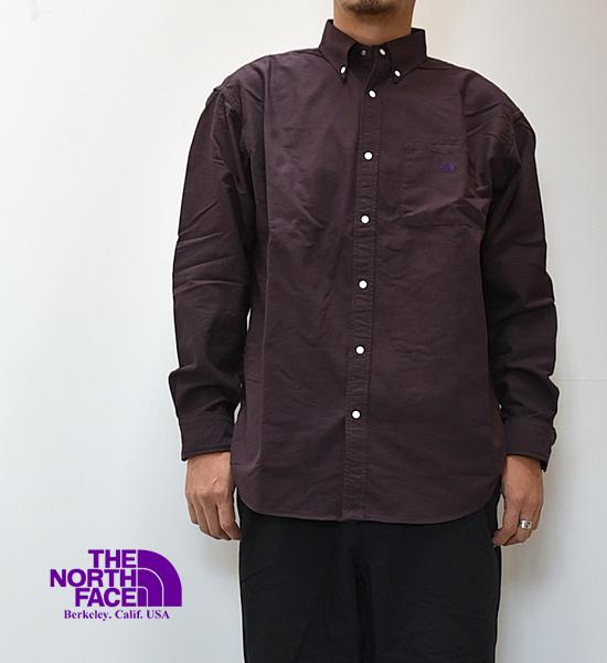 【THE NORTH FACE PURPLE LABEL】ノースフェイスパープルレーベル men's Cotton Polyester OX B.D. Shirt