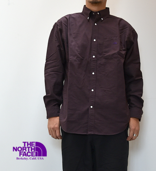 【THE NORTH FACE PURPLE LABEL】ノースフェイスパープルレーベル men's Cotton Polyester OX B.D. Shirt