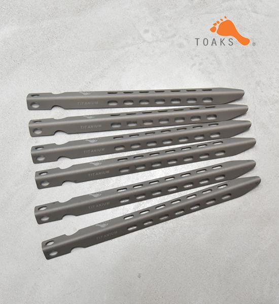 【TOAKS】トークス Titanium V-Shaped Peg 6本set ※ネコポス可