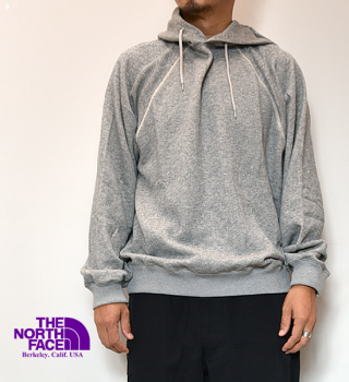 "【THE NORTH FACE PURPLE LABEL】ノースフェイスパープルレーベル Pack Field Hooded Sweatshirt ""Mix Gray"""