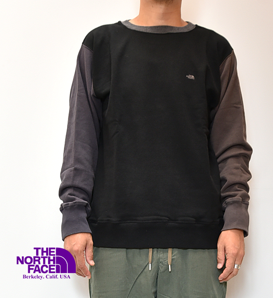 "【THE NORTH FACE PURPLE LABEL】ノースフェイスパープルレーベル Crew Neck Panel Sweat ""Black"""