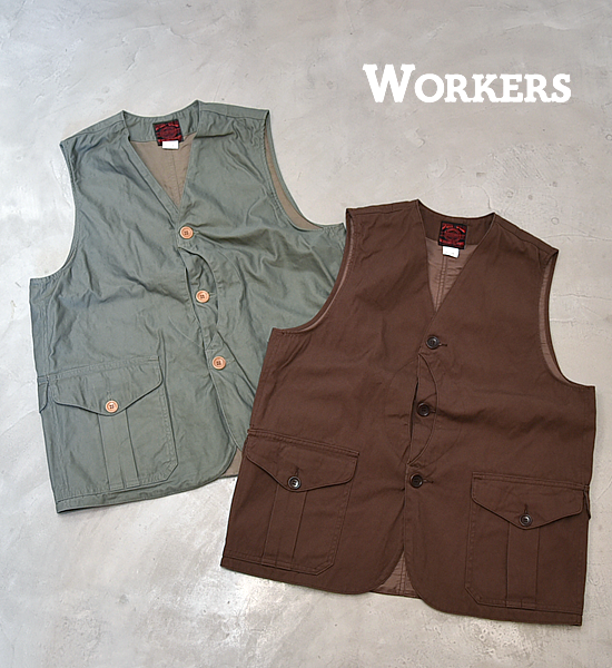 """【WORKERS】ワーカーズ Cruiser Vest """"2Color"""""""