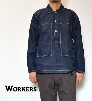 <img class='new_mark_img1' src='https://img.shop-pro.jp/img/new/icons13.gif' style='border:none;display:inline;margin:0px;padding:0px;width:auto;' />【WORKERS】ワーカーズ Pullover Shirt Ref US ARMY