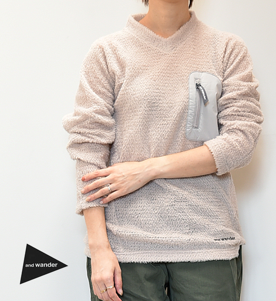 """【and wander】アンドワンダー women's alpha direct pullover """"3Color"""""""
