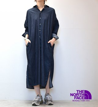 【THE NORTH FACE PURPLE LABEL】ノースフェイスパープルレーベル women's Light Denim Shirt Dress