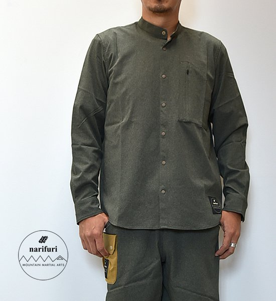 【Mountain Martial Arts】マウンテンマーシャルアーツ men's MMA×narifuri Dot Camo Band Collar Shirts