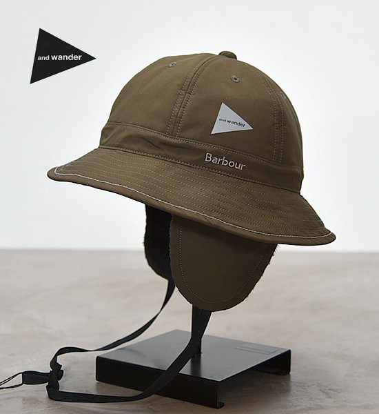 ★30%off【and wander】アンドワンダー Barbour rip hat