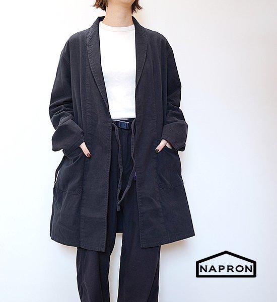 """【NAPRON】ナプロン Shawl Collar Coat """"Navy"""
