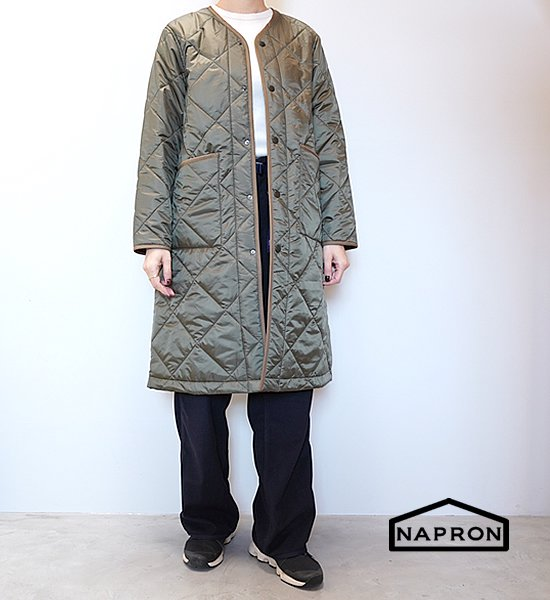 "【NAPRON】ナプロン Quilting Work Coat ""Olive"