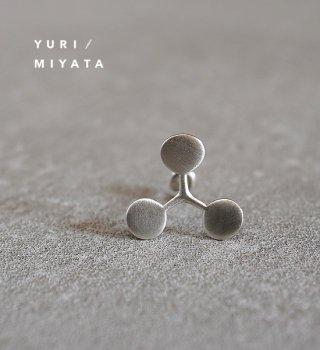 【YURI/MIYATA】ミヤタ ユリ Pierce Leaf / Circle S Silver 02
