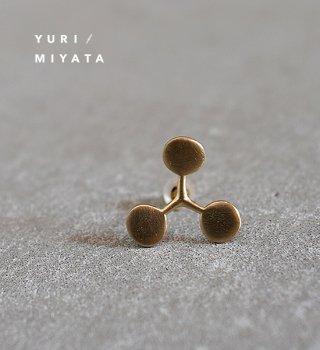 【YURI/MIYATA】ミヤタ ユリ Pierce Leaf /Circle S Gold 02
